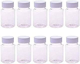 LASSUM 10PCS Empty Plastic Medicine Pill Bottle Container Solid Powder Medicine Chemical Bottles,20ML