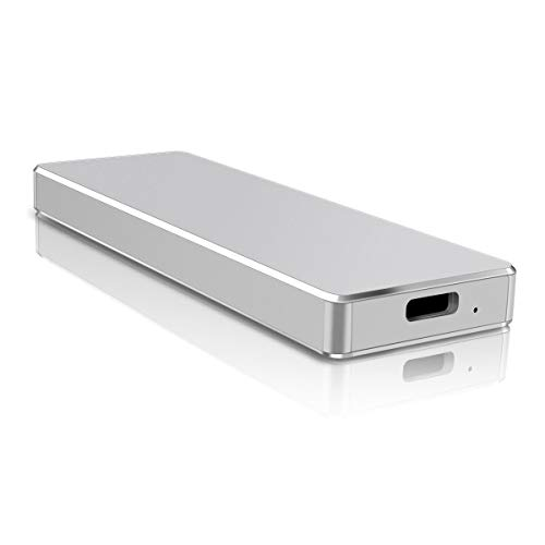 Disque Dur Externe 1to, Disque Dur Externe USB3.1/Type C pour Mac, PC, Windows, MacBook, Xbox One (1to,Argent)