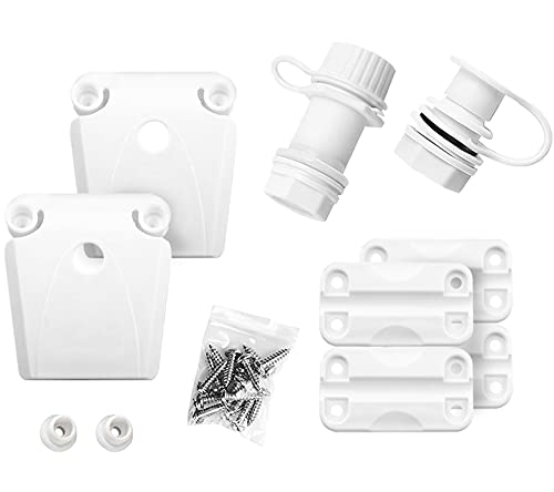 Cooler Replacement Parts Kit,Ice Chest Hinges,Threaded Cooler Drain...