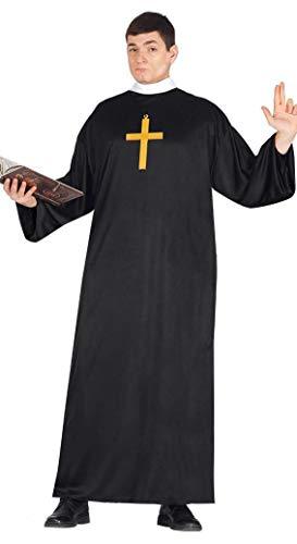 Fiestas Guirca Soutane Noire de prêtre Costume Adulte économique