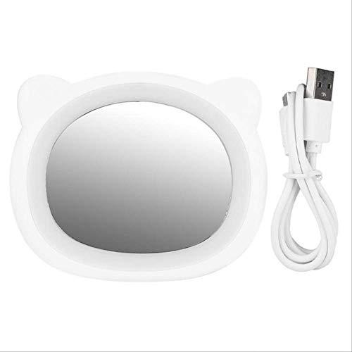 Rétroviseur intérieur compact Miroir de maquillage LED USB de charge PortableLED miroir de maquillage Mini Fill Light Miroir cosmétique outil for la beauté de maquillage des cils brosse miroir avec la