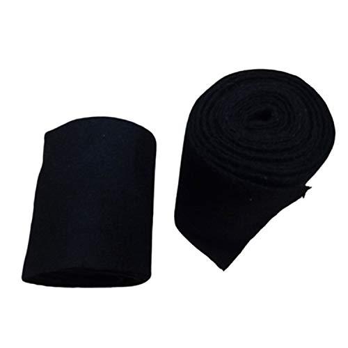 warreplica Mittelalter-SCA-LARP Reenactment Viking Wolle Puttees - Schwarze Farbe
