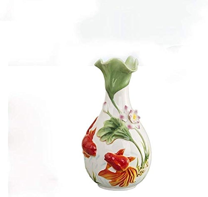 暴君後方に綺麗な花瓶 セラミック花瓶、ホームギフト装飾、ホームデコレーション、フラワーエナメル19 * 29センチメートル