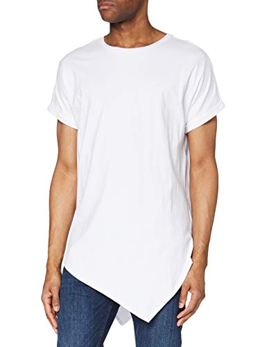 Urban Classics Asymetric Long tee Camiseta, Blanco (White 220), XX-Large para Hombre