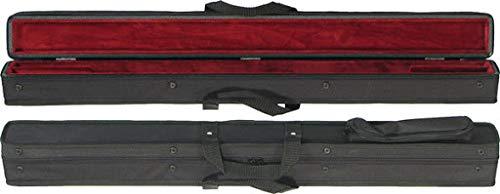 Bobelock Bogenkoffer mit Abdeckung für 2 französische Bassbögen, außen schwarz mit weinfarbener Innenseite