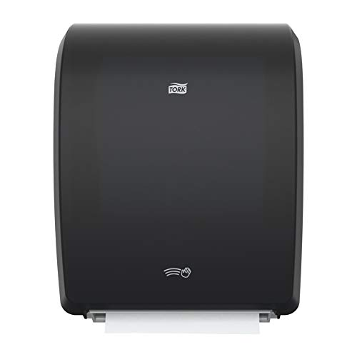 Tork Electronic Hand Towel Roll Dispenser H80, Automatic Paper Towel Dispenser 771828, Durable with Hygienic Customizable Dispensing, Black