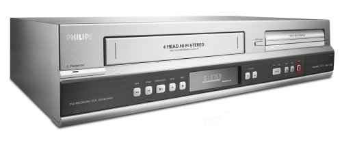 Best Buy! Philips DVDR3545V/37 1080p Upscaling DVDR/VCR Combo with Built-In Tuner