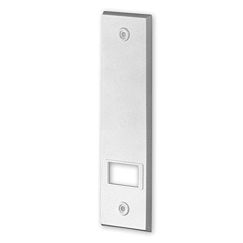 Deckplatte für Einlass-Gurtwickler 'XL', Farbe: weiß, Lochabstand: 214 mm, Abmessungen: 248 x 54 x 7 mm, für Gurtbreite: 23 mm, von EVEROXX