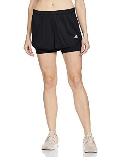 Adidas Women's M20 2IN1 Slim Fit Short Synthetic (FS9845_Black_Small)