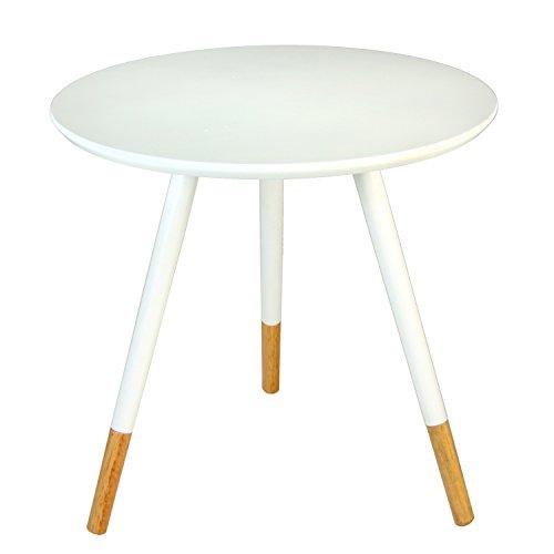 PAME 83947 Table d'appoint en Bois 48 x 46 cm Blanc