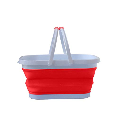 youeneom Collapsible Plastic Laundry Basket - Square Tub/Basket - Foldable Storage Container/Organizer -Portable Folding Collapsible Water Bucket for Fishing Home Storage Wash Pail Water Container
