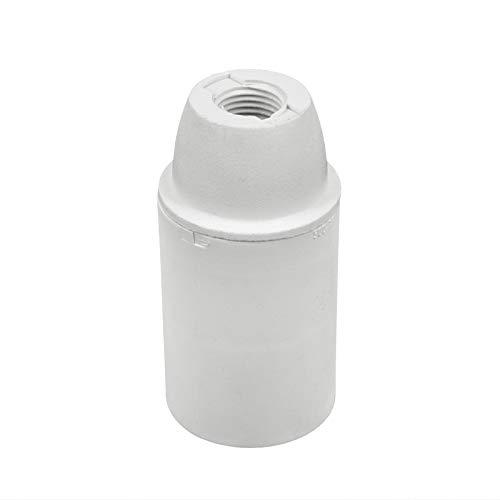 Arditi Lampenfassungen glatt aus weißem Thermoplast in drei Teilen mit E14 Fassung