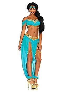 Leg Avenue Oasis Princess Costume - Small - Blue  4-Piece