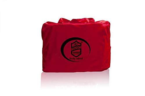 AD-Cover Vollgarage Mikrokontur® Rot für Triumph TR 4 / TR6, schützende Autoabdeckung mit Perfekter Passform, hochwertige Abdeckplane als praktische Auto-Vollgarage