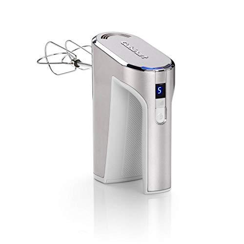 Cuisinart RHM100E Fruste elettriche Cordless, Fruste in acciaio inox, 5 velocità, Design auto-portante, Batteria agli ioni di litio, caricabatterie USB, accessori lavabili in lavastoviglie