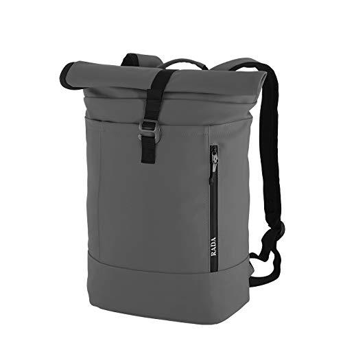 Rada Rucksack College Backpack Rolltop 13l | Daypack | Cooler Schulrucksack für Mädchen und Jungen | Tagesrucksack Unisex | aus wasserdichtem Planenmaterial (Anthra)