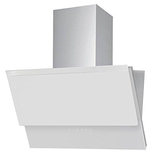 VLANO ERIS 600 WH/Kopffeie Dunstabzugshaube / 60 cm/weiß Glas Design/Touch Control/ECO LED / 50 dB/Extra leiser Motor / 500 m³/h