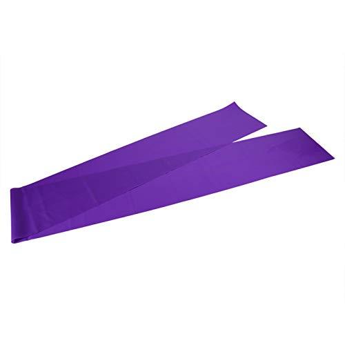 Demeras Yoga Band Stretch Band Correa elástica Ejercicio Fitness Band 1.5M Cuatro Colores(Púrpura)