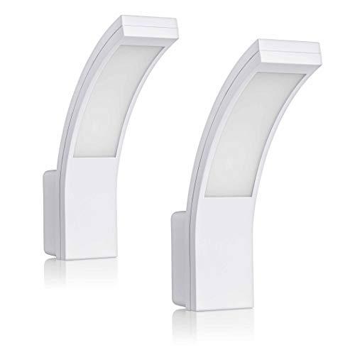 SEBSON 2x LED Lampara Exterior, Aplique de Pared IP54, Blanco, 15W, 1100lm, Blanco Frío 5800K, Lampara Pared Exterior -...