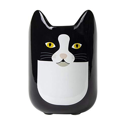 el & groove 3D Katzen Tasse in schwarz, Tee-Tasse 350 ml (400 ml randvoll) aus Porzellan, Kaffee-Tasse, Cat Mug, Katzentasse, Katzen Deko Becher, Geschenk Weihnacht, Geschenk Katze