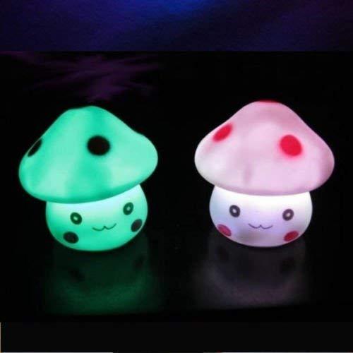 Zonster 1PC ZufäLlige Farbe Romantischer Pilz GefüHrte Nachtlicht-Lampen-Batterie-Partei-Dekor