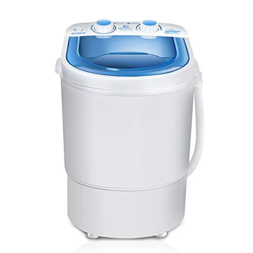 XIARI 2in1 Mini Waschmaschine und Wscheschleuder - Camping Waschautomat bis 3kg - Tragbare Toplader Reisewaschmaschine mit Schleuderfunktion,White