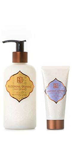 AKALIKO Blooming Jasmine Body Lotion and Lavender Cherish Hand Cream - Set A.