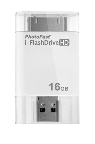 PhotoFast i-FlashDrive HD 16GB USB Flash Drive For Apple iPhone, iPad and iPod Touch as well as Mac/PC
