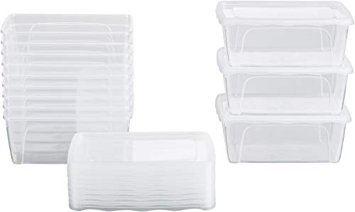 Kigima Frischhaltedosen Gefrierdosen 0,5l (420ml) 12er Set mit Deckel transparent