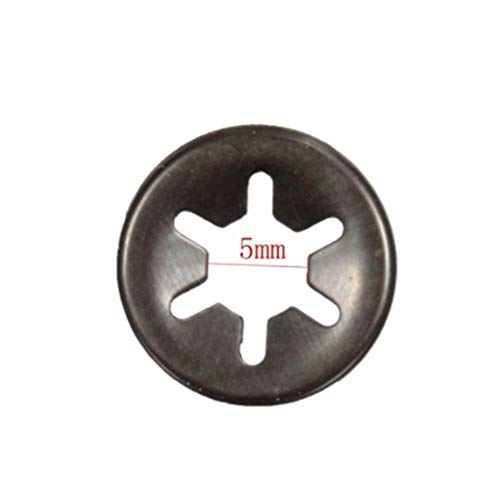 JenNiFer 3Mm 4Mm 5Mm 6Mm Plum Clamp Flange Shaft Positionierung Meson Push On Fasteners Locking Speed Clips - 5Mm