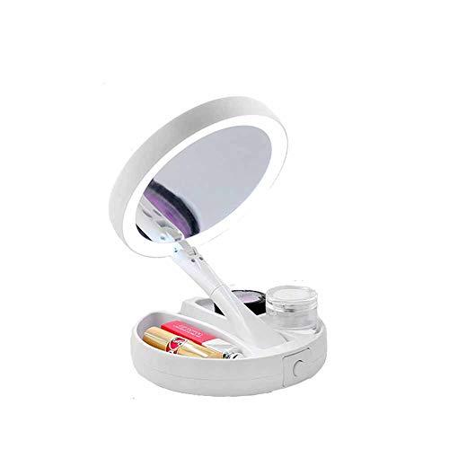 LCYM Espejo cosmético LED Espejo Maquillaje 10x Aumento