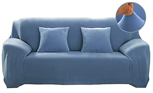 Funda elástica para sofá de 1/2/3/4 plazas, de terciopelo grueso, elástica, antideslizante, protección de muebles