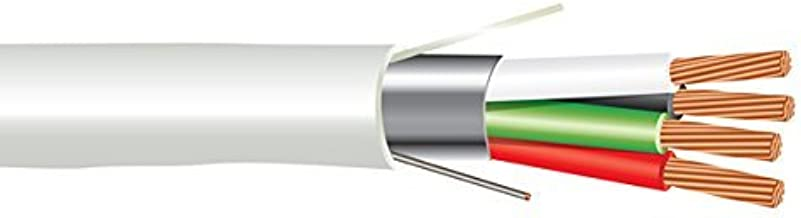 EWCS 18 AWG 4/C Str CMP Plenum Rated Shielded Sound & Security Cable - 1000 Feet - EWCS Spec - Made in USA!