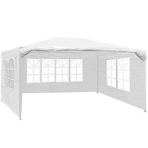 Deuba Festzelt Maui 3x4m 12 m² Pavillon Seitenwände wasserabweisend UV-Schutz 50+ Partyzelt Gartenpavillon Gartenzelt Weiß