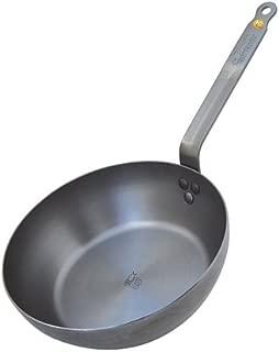De Buyer Mineral B Element Steel Fry Pan for Sealing, Browing, Grilling,11-in, 28-cm