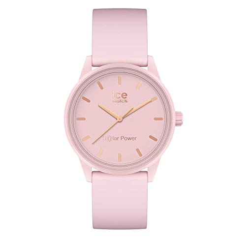 Ice-Watch ICE Solar Power Pink Lady - Reloj para Mujer con Correa de silicona, Rosa, 018479 (Small)