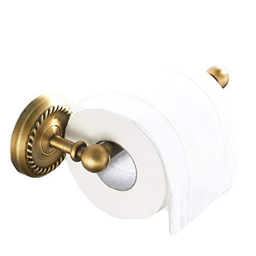 Kaxich Toilettenpapierhalter Antik Messing Papierhalter Klopapierhalter Retro Kupfer Wandmontage Klorollenhalter Wandhalter für Küche und Badzimmer WC