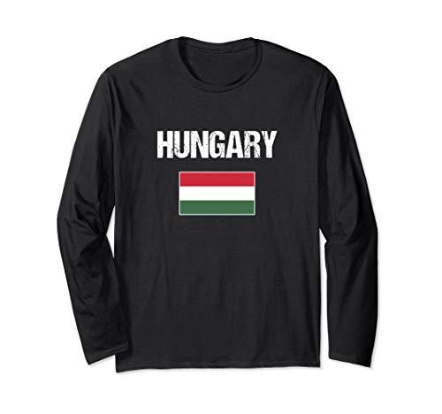 Ungarn Flagge Ungarisches Geschenk Hungary Langarmshirt