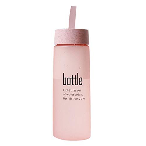 STRIR Botella de Agua Deporte 520ML,Eco-Friendly de plastico - sin BPA, Reutilizables tritan Botellas Agua para niños, Sport, Yoga, Gym, Oficina, Senderismo, Viajes Agua Botella a Prueba de Fugas