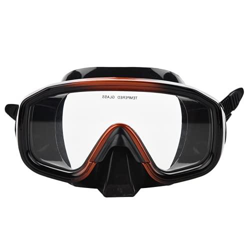 Ausla Gafas de Buceo, Gran Angular de Buceo, Color Negro con Estuche de Transporte para buceadores y Nadadores Adultos