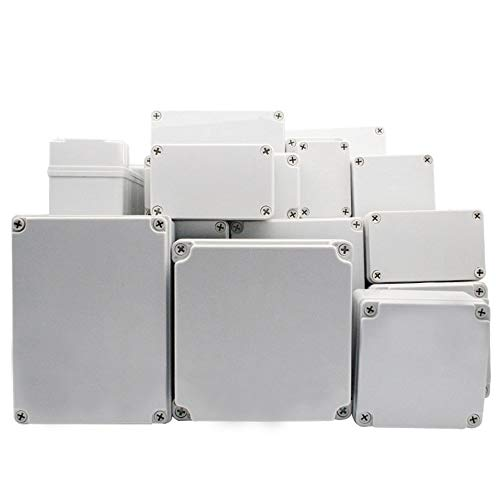 SUPERTOOL Project Box, copertura in plastica ABS IP67 scatola di giunzione elettronica custodia impermeabile per strumenti fai da te (1 pezzi - 180 x 80 x 70 mm)