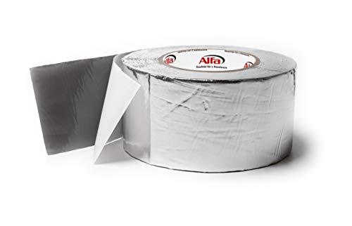 Alu- kaschiertes Butylklebeband wetterfestes Dichtungsband für ein dauerhaftes Abdichten von Dachanschlüssen Stößen und Wohnwägen (75 mm x 10m)