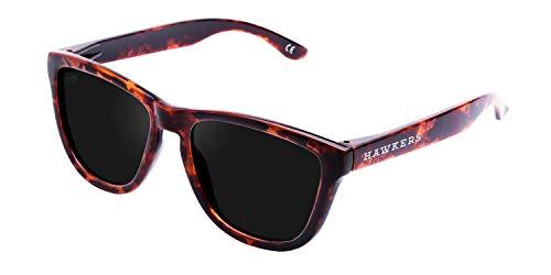 HAWKERS Gafas de Sol ONE Carey Black, para Hombre y Mujer, con Montura Havana Style y Lente Oscura, Protección UV400