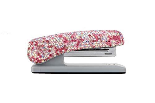 TISHAA Bling Stapler Office Supplies - Luxury Crystal Glitter Diamond Rhinestone Fun Desk Desktop School Home Mini Cute Novelty Décor (Pink) Photo #3