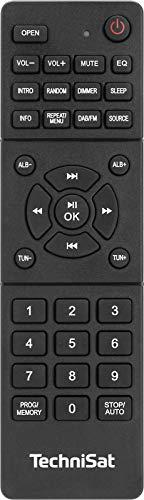 TechniSat DIGITRADIO 750 - DAB+ Mikro-HiFi System (DAB+, UKW, CD-Player, Bluetooth-Audiostreaming, 100 Watt RMS Stereo-Boxen, Kopfhöreranschluss, Fernbedienung, Kompaktanlage) schwarz
