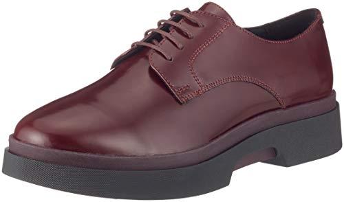 Derby-Schuhe für Damen - Stylische, gepolsterte Derbies für Damen, Burgunderrot