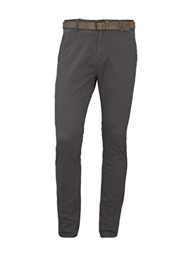 TOM TAILOR denim voor mannen broek & Chino Slim chino broek Grey Mini Zig Zag Design