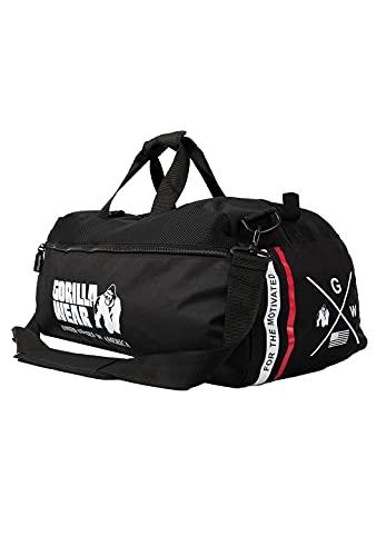 Gorilla Wear Norris Hybrid Gym Bag – Borsa sportiva per il tempo libero e l'allenamento, tasche laterali con funzione zaino da appendere, in poliestere