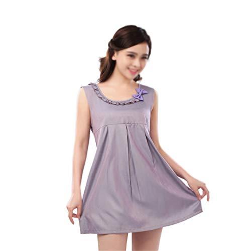 NROCF Vestido de Las Mujeres Embarazadas Fibra de Plata radiación electromagnética de...