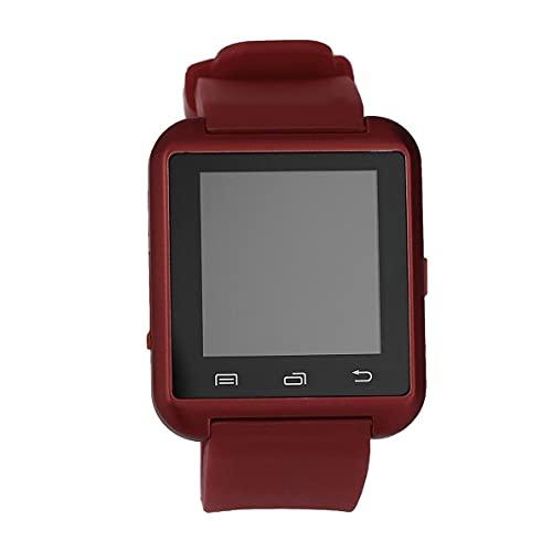 CloverGorge Negro Blanco Rojo Acero + Silicona Deportes Reloj de Pulsera Inteligente Phone Mate U8 V3.0 + EDR para iPhone Sistema iOS